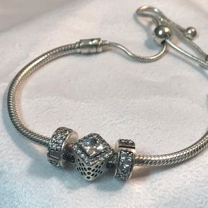 Pandora silver slider bracelet